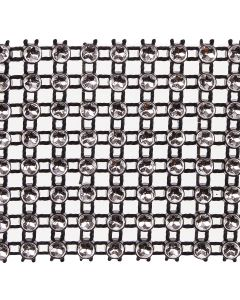 Medium Diamante Illusion Trim - Silver on Black