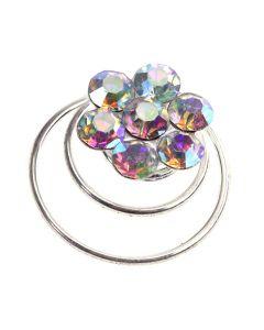 Diamante AB Crystal Flower Twist