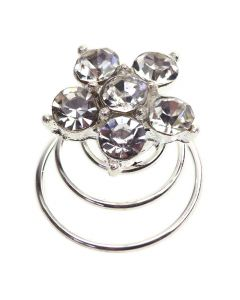 Diamante Crystal Flower Twist