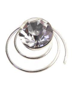 Solitaire Diamante Twist - Crystal