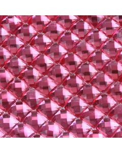 Fuchsia Pink Diamante Sheet - Zoom