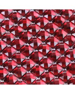 Burgundy Diamante Sheet - Zoom