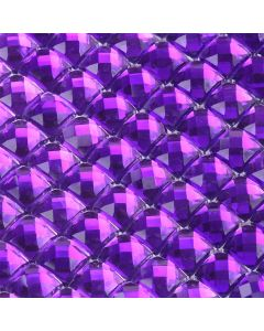 Purple Diamante Sheet - Zoom