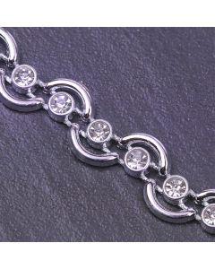 Wave Diamante Trim Silver