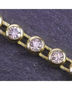 Single Strand Diamante Trim Gold