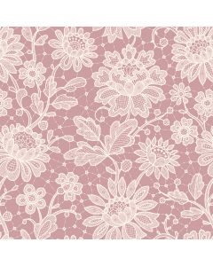 Duchesse Lace Dusky Pink Decorative Paper - Zoom
