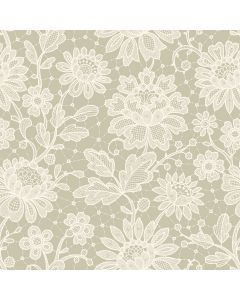Duchesse Lace Ivory Decorative Paper - Zoom