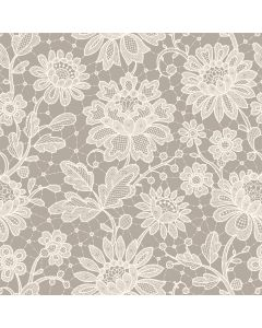 Duchesse Lace Pearl Decorative Paper - Zoom