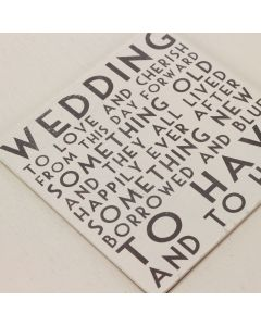 'Wedding' Text Memory Box