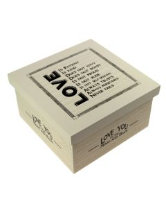 'Love' Vows Wedding Box