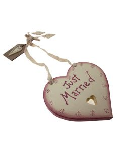 'Just Married' Wedding Heart