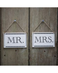 Pair of Mr and Mrs Vintage Affair Signs