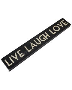 'Live Laugh Love' Sign (Black/Cream)