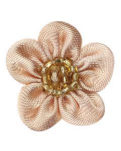 Gold Beaded Ribbon Flower Embellishment
