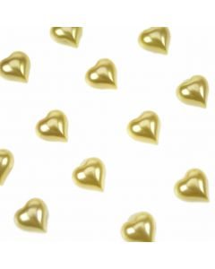 Gold Pearl Self Adhesive Hearts from Club Green