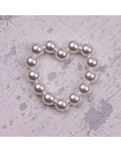 Mini Pearly Bead Hearts for crafting