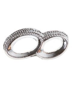 Silver Entwined Wedding Rings Embellishment