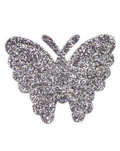 Silver Glitter Butterflies