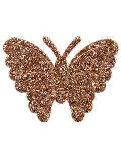 Gold Glitter Butterflies