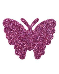 Purple Glitter Butterflies