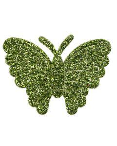 Lime Glitter Butterflies