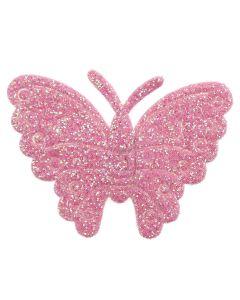 Pink Glitter Butterflies