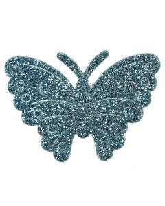 Turquoise Glitter Butterflies