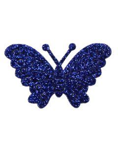 Blue Glitter Butterflies