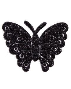 Black Glitter Butterflies
