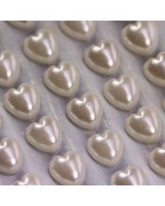 6mm Solid Pearl Hearts