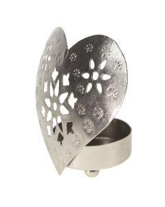 Silver Filigree Flower Tea Light Holder