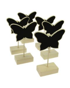 Chalkboard Butterfly Clip Stands (Set of 6)