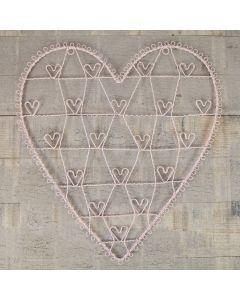 Pink Heart Wirework Frame