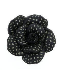 Black Vintage Clay Rose
