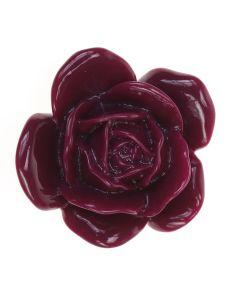 35mm Plum Heavenly Rose Bead