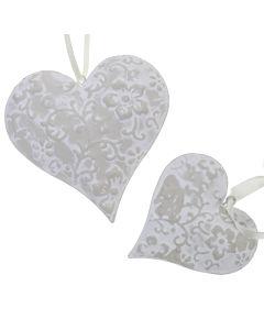 Ivory Trellis Hearts
