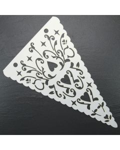 Bunting Flag (Hearts) Single