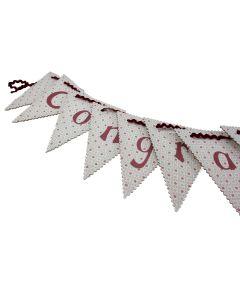 Congratulations Vintage Bunting