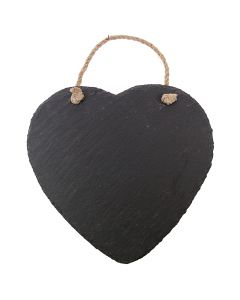 Natural Wedding Slate Heart Chalkboard