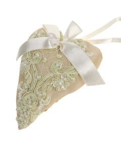 Scented Sachet Hearts - Ivory