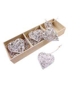 Daisy Filigree Heart Set in Box
