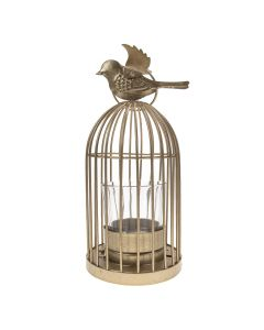 Gold Birdcage Tea Light Holder