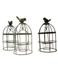 Set of 3 Vintage Birdcage Tea Light Holders