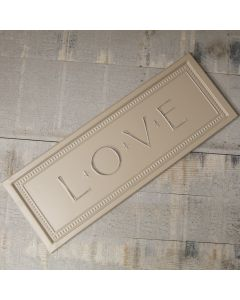 Love Embossed Metal Sign