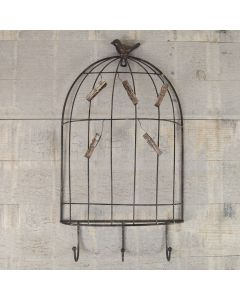 Rustic Table Plan Birdcage with Pegs and 3 Hooks