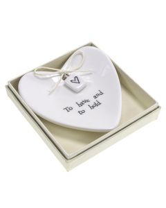 Boxed Large Heart To Have and To Hold Ring Dish