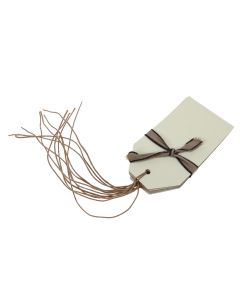 Cream Tags with String Cord Ties