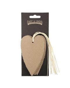 Kraft Deckle Edged Heart Tags Pack