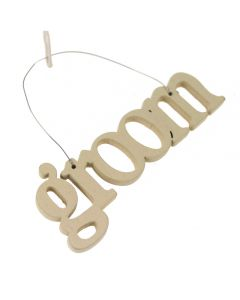 Groom Wire Word Hanging Decoration