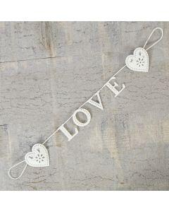 Vintage Metal Heart Garland - Love
